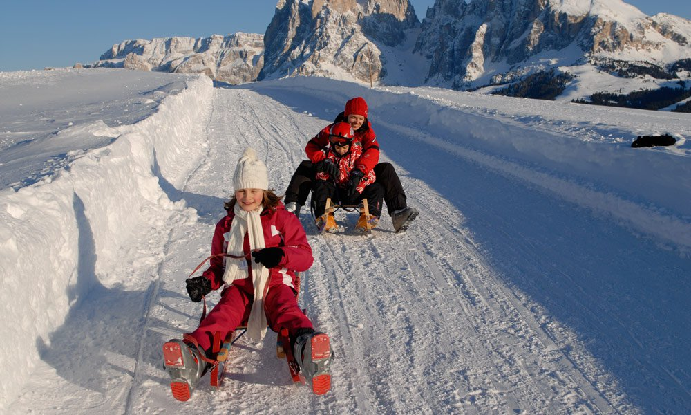Winter holidays in the Dolomites, far from the slopes