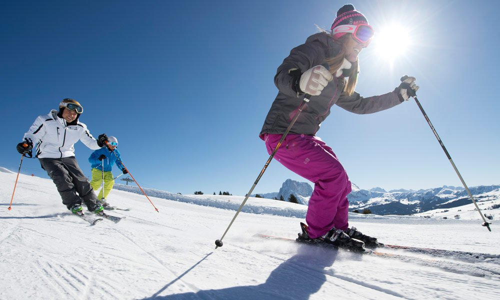 Winter holidays on the Seiser Alm - the largest ski area of the Dolomiti Superski