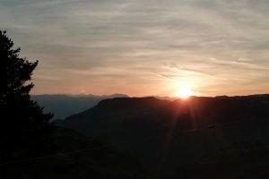 Sonnenuntergang im Frühling