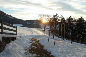 Sonnenuntergang am Heideggerhof