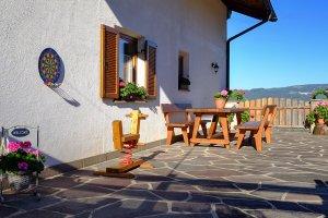 Terrasse mit Blick auf Ritten
